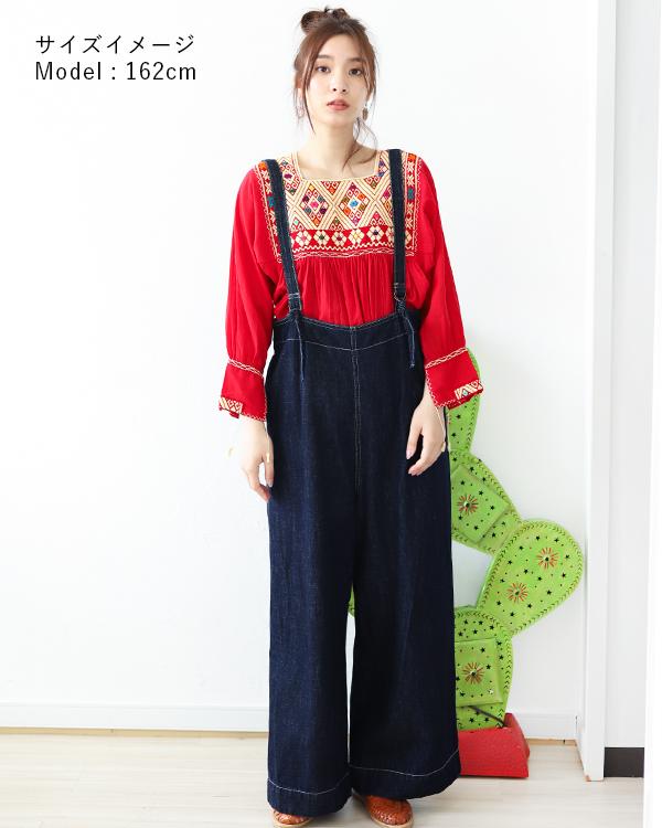 メキシコ刺繍とサロペットが好印象*